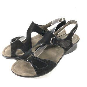 Mephisto Paris Leather Adjustable Sandal